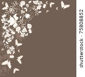 decorative brown floral... | Shutterstock .eps vector #75808852