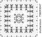 black and white pattern for...   Shutterstock . vector #758093047