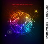 neon globe | Shutterstock .eps vector #75809680
