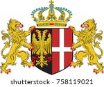 coat of arms of neuss is a city ... | Shutterstock .eps vector #758119021