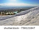 pamukkale  turkey  turkey in a... | Shutterstock . vector #758121847