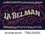 "vintage font set named ""la... 