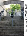 stairs and railings | Shutterstock . vector #758129461