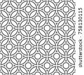 vector seamless pattern. modern ... | Shutterstock .eps vector #758130115