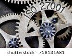 macro photo of tooth wheel... | Shutterstock . vector #758131681