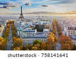 aerial panoramic cityscape view ... | Shutterstock . vector #758141641