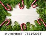 Christmas Background With Cand...