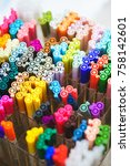set of several liners  markers... | Shutterstock . vector #758142601
