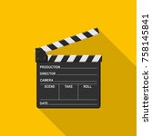 film clapper board icon on... | Shutterstock .eps vector #758145841