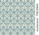 seamless victorian pattern....   Shutterstock .eps vector #758150845