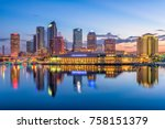 tampa  florida  usa downtown... | Shutterstock . vector #758151379