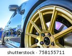 golden rims with reflective...