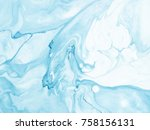 blue marble abstract hand... | Shutterstock . vector #758156131