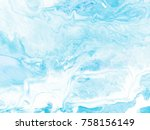 blue marble abstract hand... | Shutterstock . vector #758156149