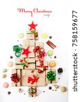 creative layout made of... | Shutterstock . vector #758159677