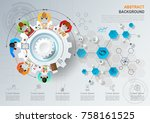 idea concept for business... | Shutterstock .eps vector #758161525