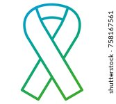 ribbon campaign isolated icon | Shutterstock .eps vector #758167561