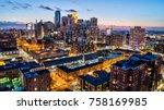 minneapolis cityscape   dusk    Shutterstock . vector #758169985