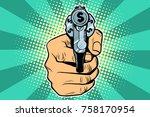 dollar currency money finance... | Shutterstock .eps vector #758170954