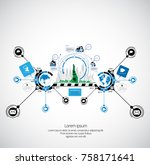 business infographic concept | Shutterstock .eps vector #758171641
