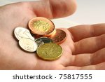 czech coins of amount one  two  ... | Shutterstock . vector #75817555