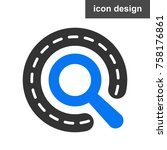 route find icon | Shutterstock .eps vector #758176861