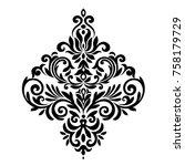 vintage baroque frame scroll...   Shutterstock .eps vector #758179729