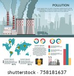 nuclear power plant vector... | Shutterstock .eps vector #758181637