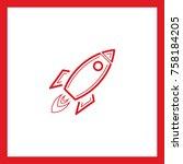 rocket line vector icon    Shutterstock .eps vector #758184205