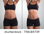 before and after concept... | Shutterstock . vector #758184739
