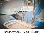 metal dental equipment tools...   Shutterstock . vector #758186884