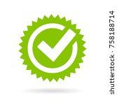 green approved star sticker... | Shutterstock .eps vector #758188714