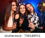 enjoying amazing party. group... | Shutterstock . vector #758188921