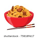 japanese  chinese noodles ...   Shutterstock .eps vector #758189617