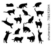 set vector silhouettes of the... | Shutterstock .eps vector #758192044