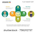 cycle diagram with four... | Shutterstock .eps vector #758192737