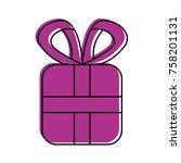 christmas gift box wrapped... | Shutterstock .eps vector #758201131