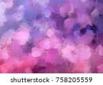 pastel color art. abstract... | Shutterstock . vector #758205559