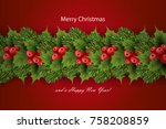 holiday's background with... | Shutterstock .eps vector #758208859