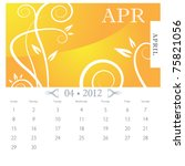 an image of april month... | Shutterstock .eps vector #75821056