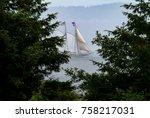 tall ship sailing the salish... | Shutterstock . vector #758217031