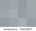 set collection with trendy... | Shutterstock .eps vector #758218879