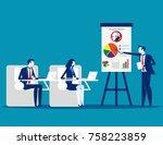 meeting. business team planning ...   Shutterstock .eps vector #758223859