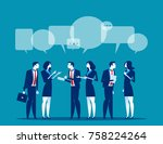 business corporate meeting.... | Shutterstock .eps vector #758224264