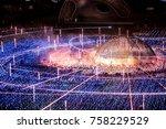 tokyo midtown illumination... | Shutterstock . vector #758229529