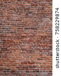 Old Red Brick Wall Vertical...