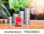 house model on table for... | Shutterstock . vector #758230831