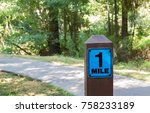 Wooden One Mile Marker Post...