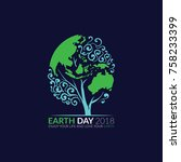 earth day  happy life and save... | Shutterstock .eps vector #758233399