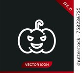 halloween pumpkin icon. holiday ... | Shutterstock .eps vector #758236735